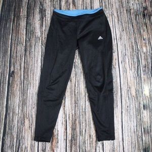 Adidas Black Fleece Lined Sweat Pants Size Small